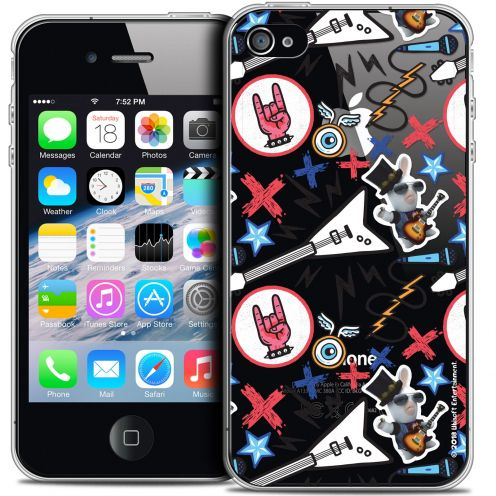Coque iPhone 4/4s Extra Fine Lapins Crétins™ - Rock Pattern