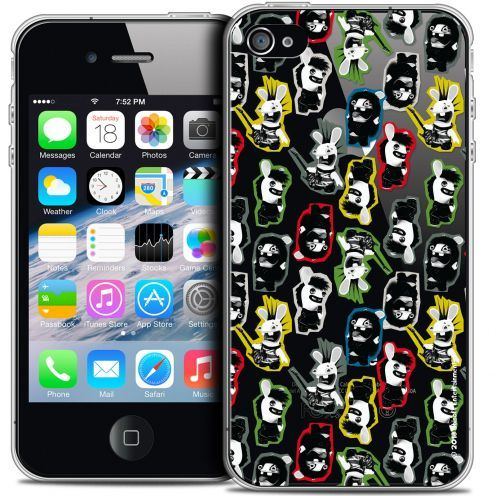 Coque iPhone 4/4s Extra Fine Lapins Crétins™ - Punk Pattern