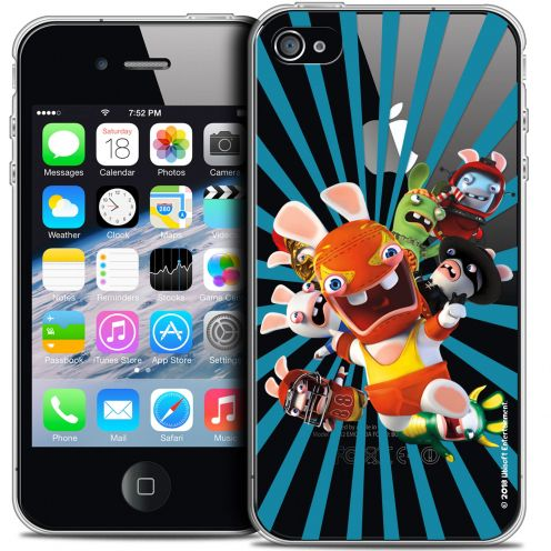 Coque iPhone 4/4s Extra Fine Lapins Crétins™ - Super Heros