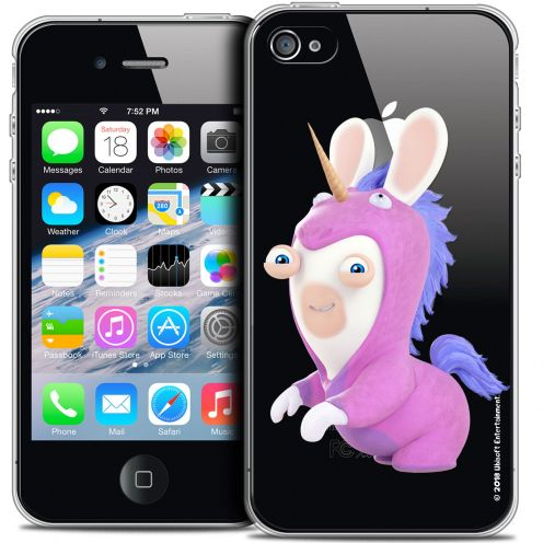 Coque iPhone 4/4s Extra Fine Lapins Crétins™ - Licorne