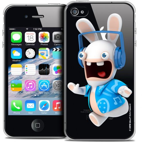 Coque iPhone 4/4s Extra Fine Lapins Crétins™ - Techno Lapin
