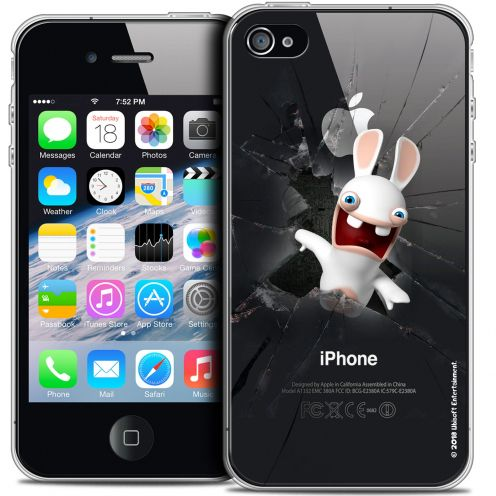 Coque iPhone 4/4s Extra Fine Lapins Crétins™ - Breaking Glass