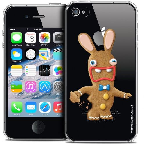 Coque iPhone 4/4s Extra Fine Lapins Crétins™ - Cookie