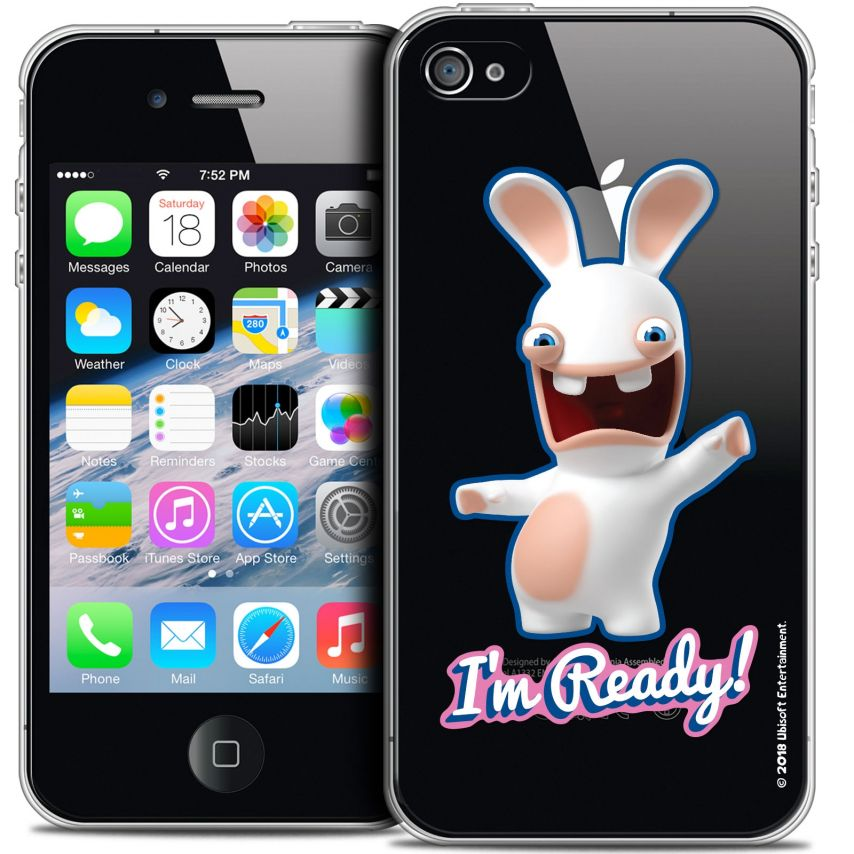 Coque iPhone 4/4s Extra Fine Lapins Crétins™ - I'm Ready !