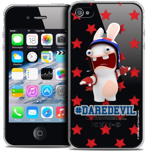 Coque iPhone 4/4s Extra Fine Lapins Crétins™ - Dare Devil