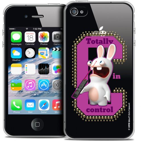 Coque iPhone 4/4s Extra Fine Lapins Crétins™ - In Control !