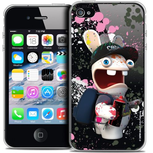 Coque iPhone 4/4s Extra Fine Lapins Crétins™ - Painter