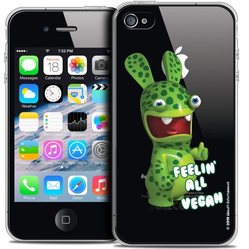 Coque iPhone 4/4s Extra Fine Lapins Crétins™ - Vegan