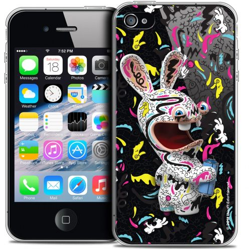 Coque iPhone 4/4s Extra Fine Lapins Crétins™ - Tag