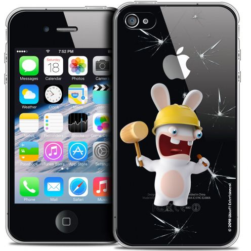 Coque iPhone 4/4s Extra Fine Lapins Crétins™ - Breaker