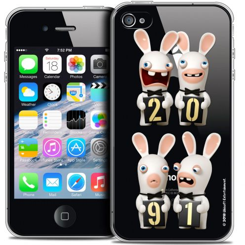 Coque iPhone 4/4s Extra Fine Lapins Crétins™ - New Year