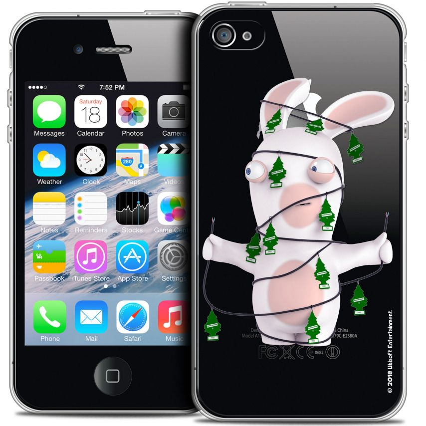 Coque iPhone 4/4s Extra Fine Lapins Crétins™ - Arbre Crétin
