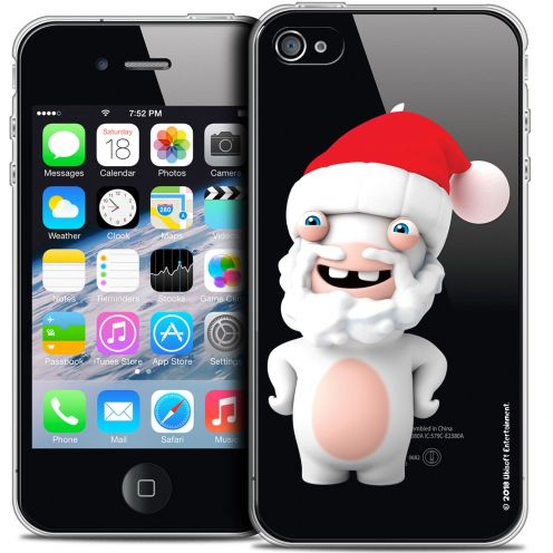 Coque iPhone 4/4s Extra Fine Lapins Crétins™ - Lapin Noël