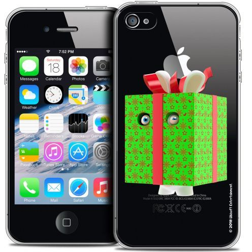 Coque iPhone 4/4s Extra Fine Lapins Crétins™ - Lapin Surprise Vert
