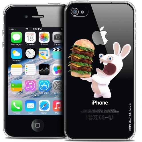Coque iPhone 4/4s Extra Fine Lapins Crétins™ - Burger Crétin