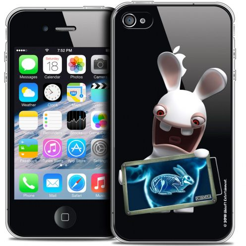 Coque iPhone 4/4s Extra Fine Lapins Crétins™ - X Ray Crétin