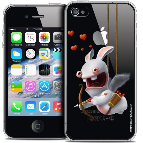 Coque iPhone 4/4s Extra Fine Lapins Crétins™ - Flying Cupidon