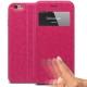 Vue complémentaire de Coque Folio Smart Touch View Cuir Eco Rose pour iPhone 6 Plus