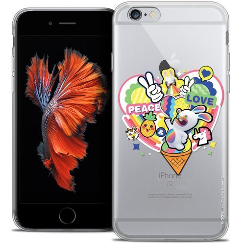 Coque iPhone 6/6s Plus 5.5 Extra Fine Lapins Crétins™ - Peace And Love