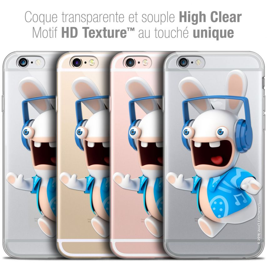 Coque iPhone 6/6s Plus 5.5 Extra Fine Lapins Crétins™ - Techno Lapin