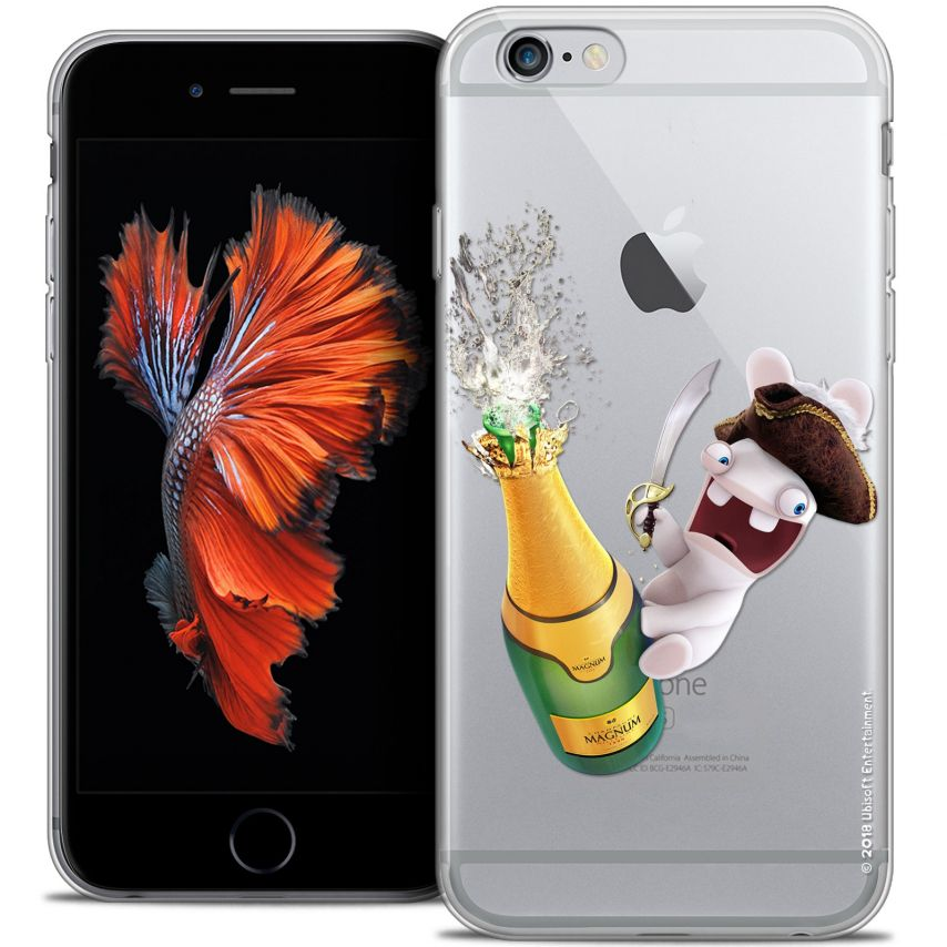 Coque iPhone 6/6s Plus 5.5 Extra Fine Lapins Crétins™ - Champagne !