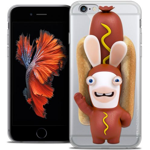 Coque iPhone 6/6s Plus 5.5 Extra Fine Lapins Crétins™ - Hot Dog Crétin