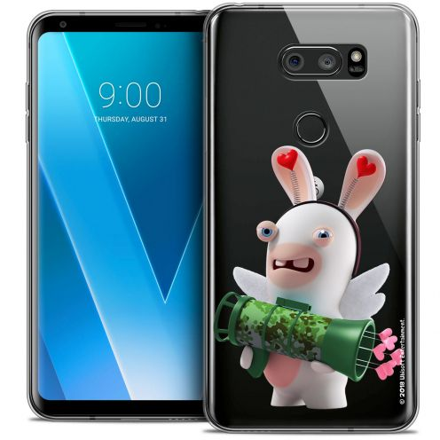 "Coque Gel LG V30 (6"") Extra Fine Lapins Crétins™ - Cupidon Soldat"