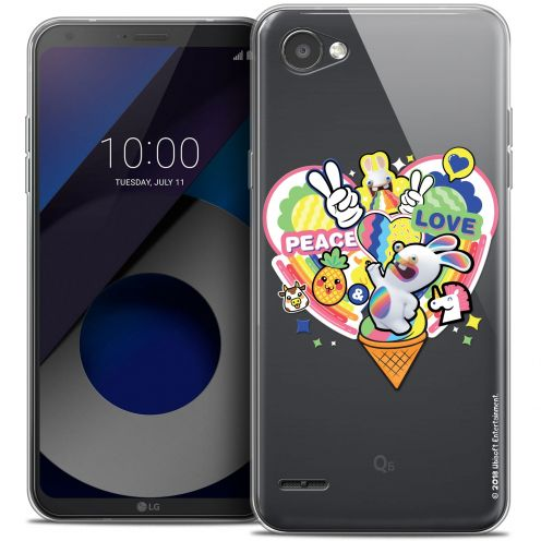 """Coque Gel LG Q6 (5.5"""") Extra Fine Lapins Crétins™ - Peace And Love"""