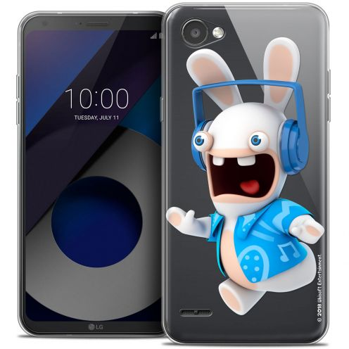 """Coque Gel LG Q6 (5.5"""") Extra Fine Lapins Crétins™ - Techno Lapin"""