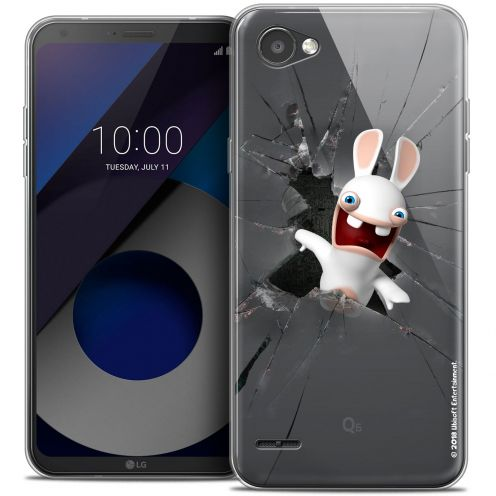 """Coque Gel LG Q6 (5.5"""") Extra Fine Lapins Crétins™ - Breaking Glass"""
