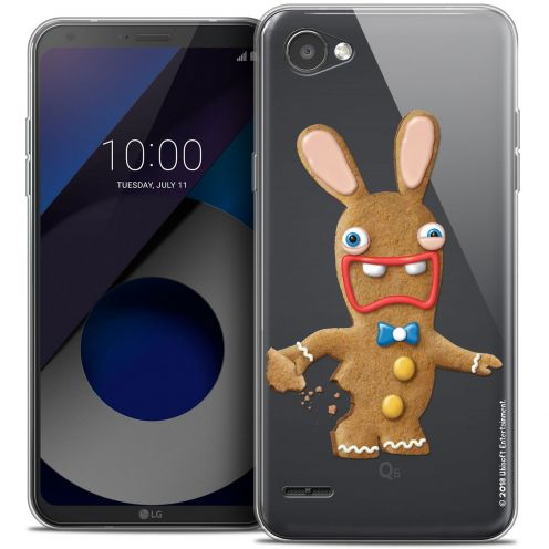"""Coque Gel LG Q6 (5.5"""") Extra Fine Lapins Crétins™ - Cookie"""