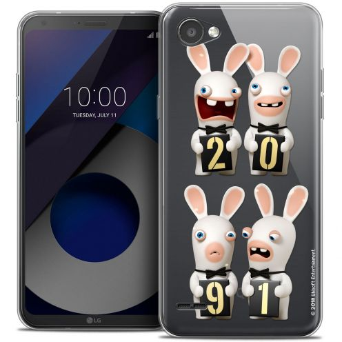"""Coque Gel LG Q6 (5.5"""") Extra Fine Lapins Crétins™ - New Year"""