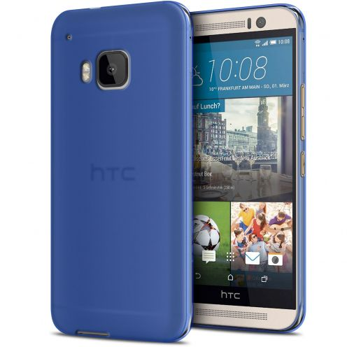 Zoom sur Coque HTC One M9 Frozen Ice Extra Fine Gel Bleu