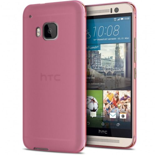 Coque HTC One M9 Frozen Ice Extra Fine Gel Rose