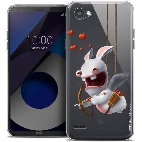 """Coque Gel LG Q6 (5.5"""") Extra Fine Lapins Crétins™ - Flying Cupidon"""