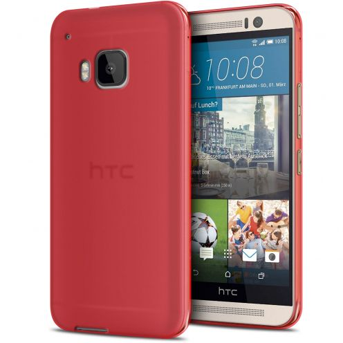 Zoom sur Coque HTC One M9 Frozen Ice Extra Fine Gel Rouge