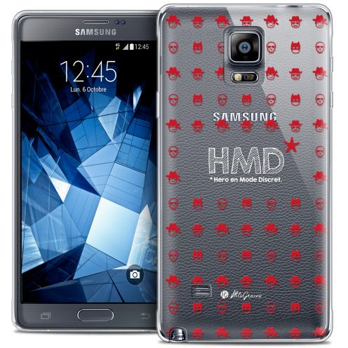 Coque Galaxy Note 4 Extra Fine Petits Grains® - HMD* Hero en Mode Discret