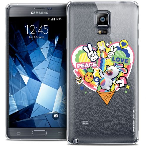 Coque Galaxy Note 4 Extra Fine Lapins Crétins™ - Peace And Love