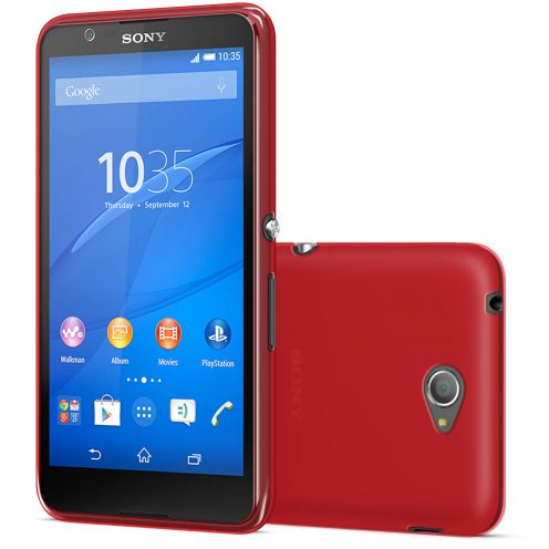 Visuel unique de Coque Sony Xperia E4 Frozen Ice Extra Fine Gel Rouge