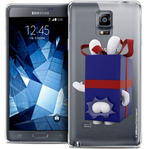 Coque Galaxy Note 4 Extra Fine Lapins Crétins™ - Lapin Surprise Bleu