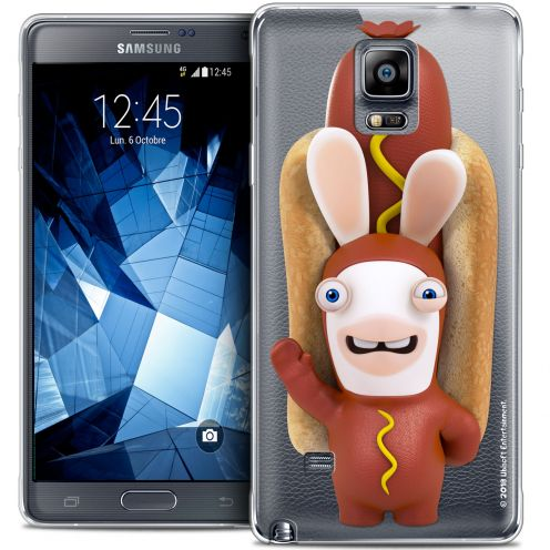 Coque Galaxy Note 4 Extra Fine Lapins Crétins™ - Hot Dog Crétin