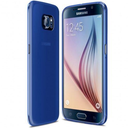 Visuel unique de Coque Samsung Galaxy S6 Frozen Ice Extra Fine Gel Bleu