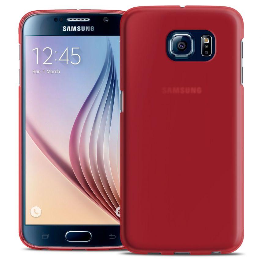 Visuel supplémentaire de Coque Samsung Galaxy S6 Frozen Ice Extra Fine Gel Rouge