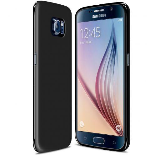 Visuel unique de Coque Samsung Galaxy S6 Frozen Ice Extra Fine Gel Noir Opaque