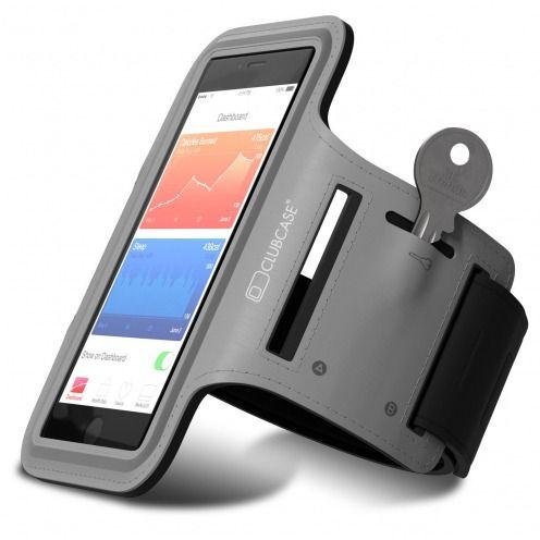 "Vue portée de Brassard Sport Clubcase® T2 iPhone 6/6s+ Smartphone Universel (4.7 à 5.5"") S/M/L Gris"