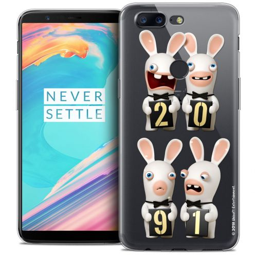 """Coque Gel OnePlus 5T (6"""") Extra Fine Lapins Crétins™ - New Year"""