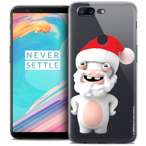 "Coque Gel OnePlus 5T (6"") Extra Fine Lapins Crétins™ - Lapin Noël"