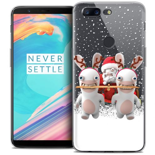 "Coque Gel OnePlus 5T (6"") Extra Fine Lapins Crétins™ - Lapin Traineau"