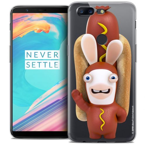 "Coque Gel OnePlus 5T (6"") Extra Fine Lapins Crétins™ - Hot Dog Crétin"