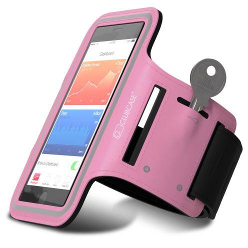 """Vue portée de Brassard Sport Clubcase® T1 iPhone 6/6s Smartphone Universel (4 à 4.7"""") S/M/L Rose"""